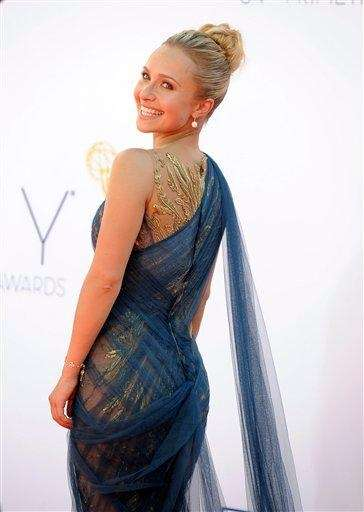 Hayden Panettiere arrives at the 64th Primetime Emmy