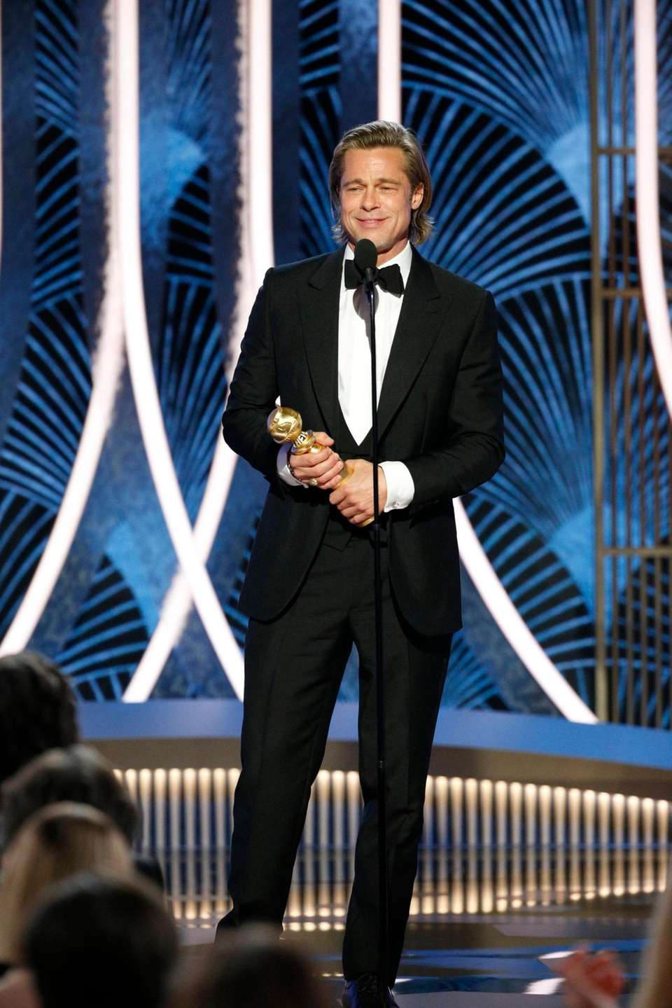 This image released by NBC shows Brad Pitt