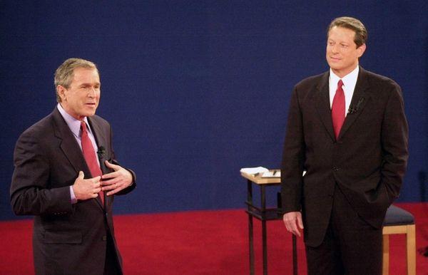 Republican Texas Gov. George W. Bush Democratic with
