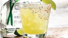 A margarita made with Patron tequila, the January