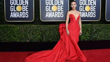 US actress Scarlett Johansson arrives for the 77th