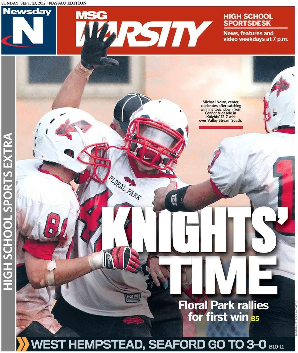 The Nassau edition's front cover of Newsday's high
