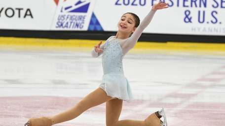 Katie Krafchik, 11, of New Hyde Park, skated