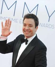 Comedian Jimmy Fallon arrives at the 64th Primetime
