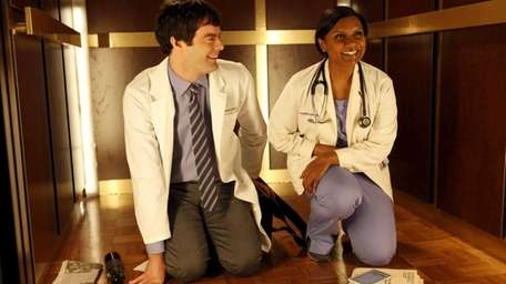 Mindy Kaling, right, a skilled OB/GYN meets her