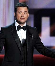 Host Jimmy Kimmel speaks onstage during the 64th