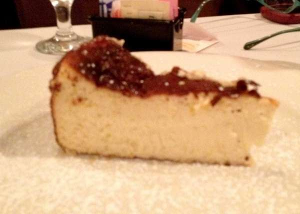 Italian cheesecake at Chris ... Tony's in Syosset.