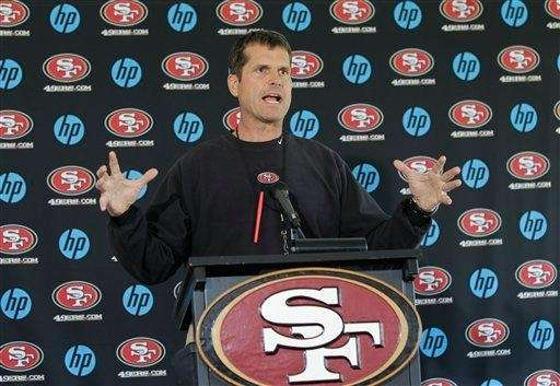 Jim Harbaugh led the 49ers to a 13-3
