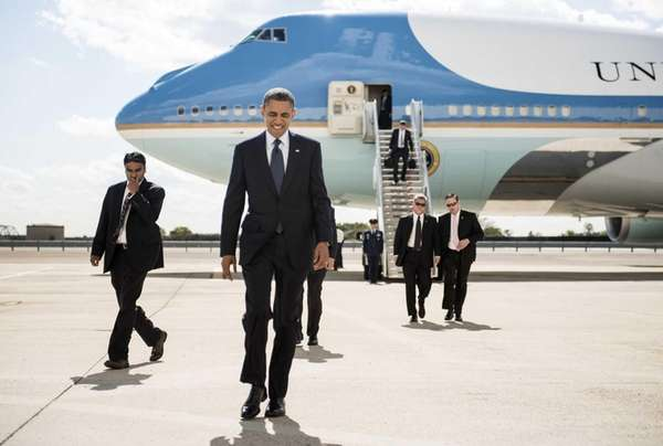 US President Barack Obama arrives at John F.