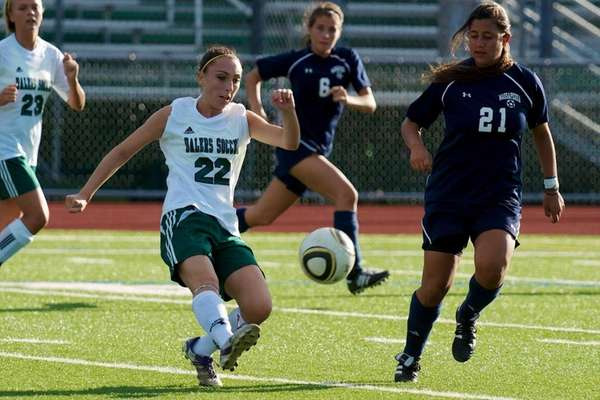 Farmingdale senior Amanda Turturro fields the ball during