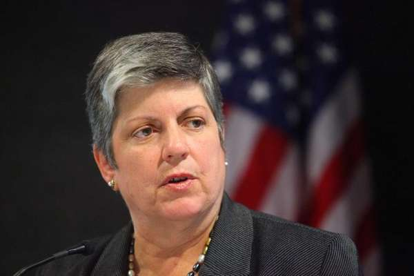 Homeland Security Secretary Janet A. Napolitano visits the