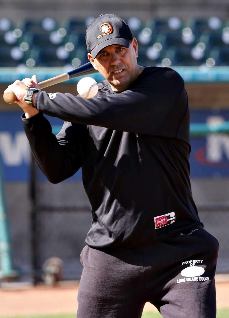Long Island Ducks manager Kevin Baez. (Sept. 24,