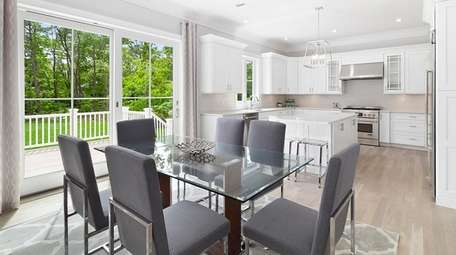 With recessed lighting throughout, the interior has an
