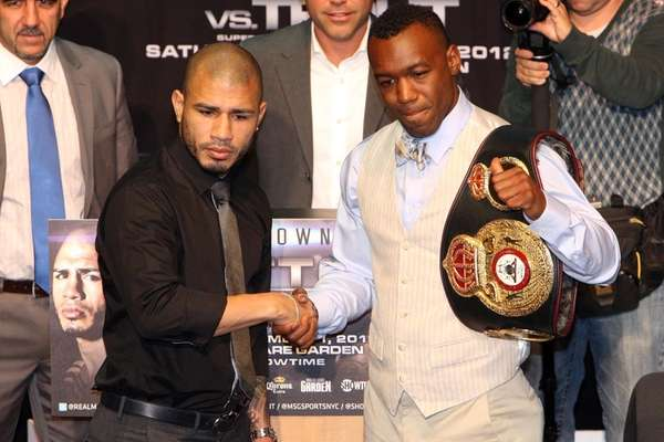 Miguel Cotto and Austin Trout at NYC press