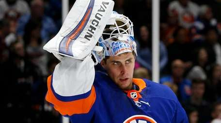 Thomas Greiss of the New York Islanders after