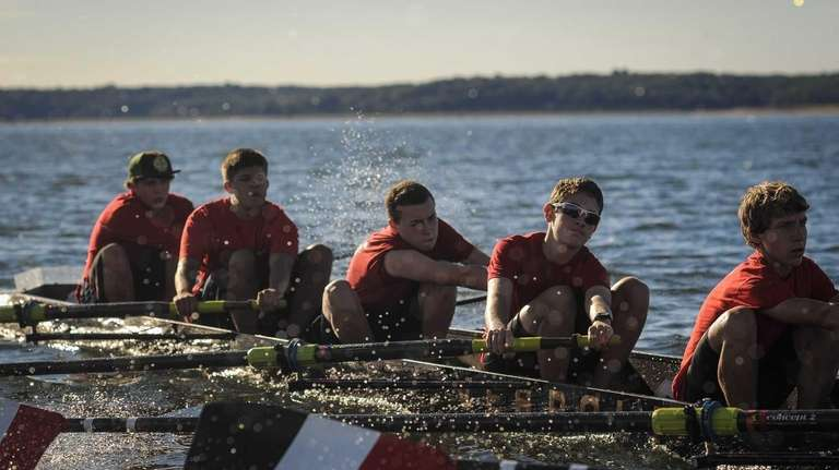 The crew team of the Long Island Rowing
