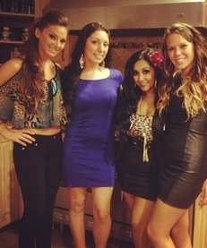 Nicole ?Snooki? Polizzi, with friends, in a photo