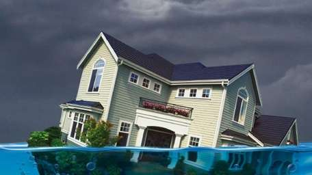 House, Underwater, Water, Debt, Foreclosure, Disaster, Problems, Danger,
