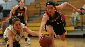 Charlotte Twohig of Syosset gets the steal from