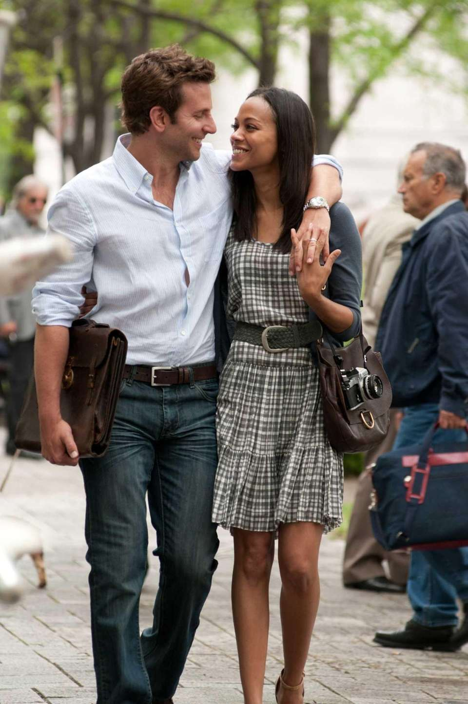 Bradley Cooper (as Rory Jansen) and Zoe Saldana