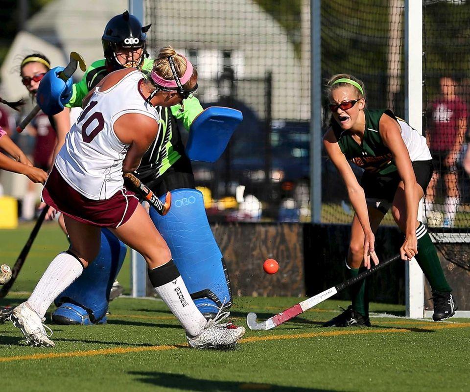 Bay Shore's Kyra Harney puts the shot on