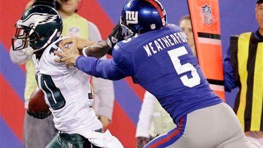 Philadelphia Eagles wide receiver DeSean Jackson, left, is