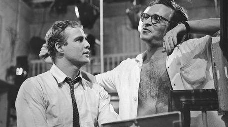 Marlon Brando and director Sidney Lumet on the