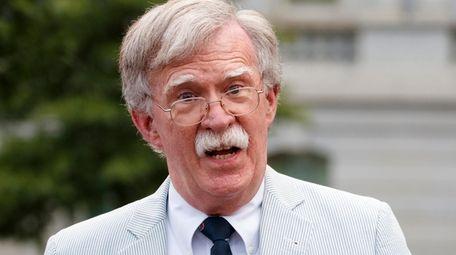 Then National security adviser John Bolton speaks to