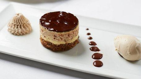 The chocolate-chestnut torte with housemade Armagnac ice cream