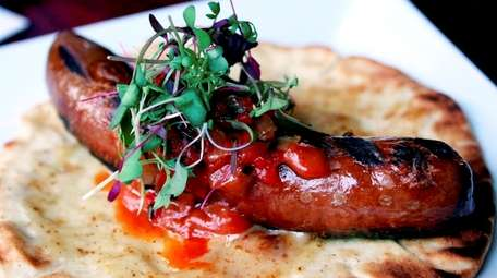 The Kobe beef frankfurter at the Public House