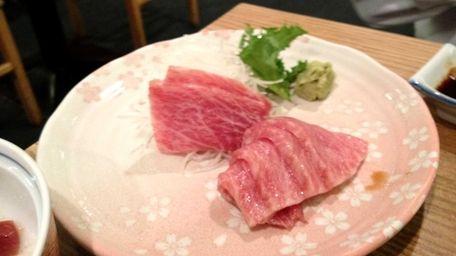 Toro tuna sashimi at Yamaguchi in Port Washington.