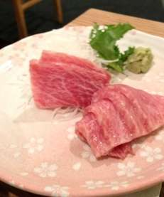 Toro tuna sashimi at Yamaguchi in Port Washington.
