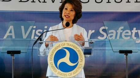 Transportation Secretary Elaine Chao, seen in 2017, announced