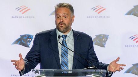 Carolina Panthers new head coach Matt Rhule talks