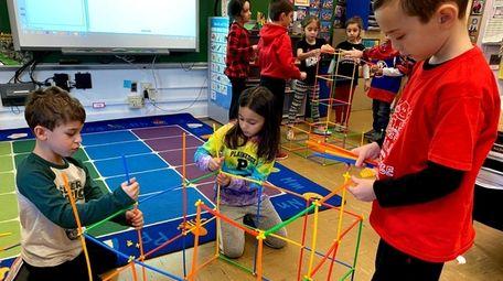 Allison Israel's first-grade class at Eastplain Elementary School