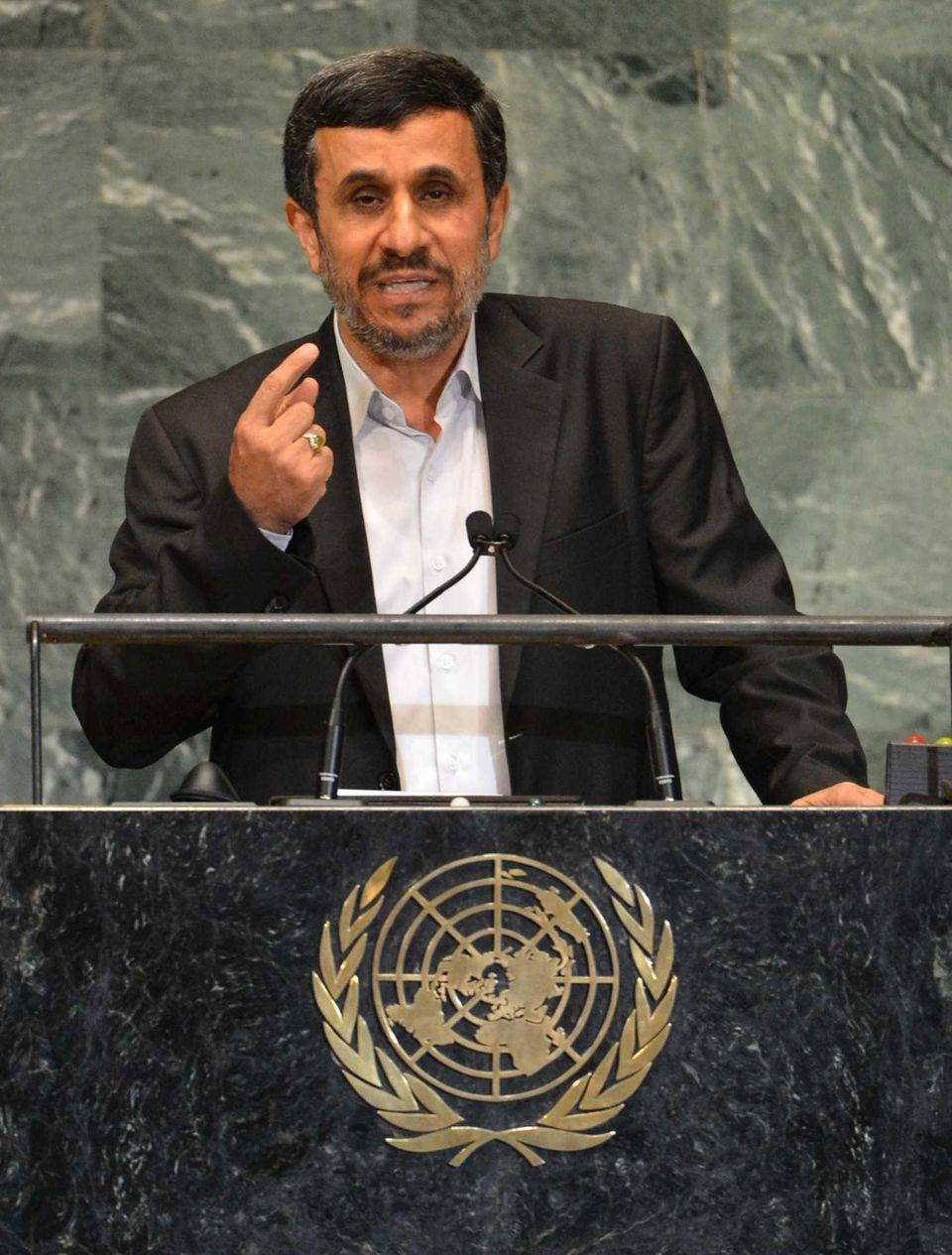 Mahmoud Ahmadinejad, President of the Islamic Republic of