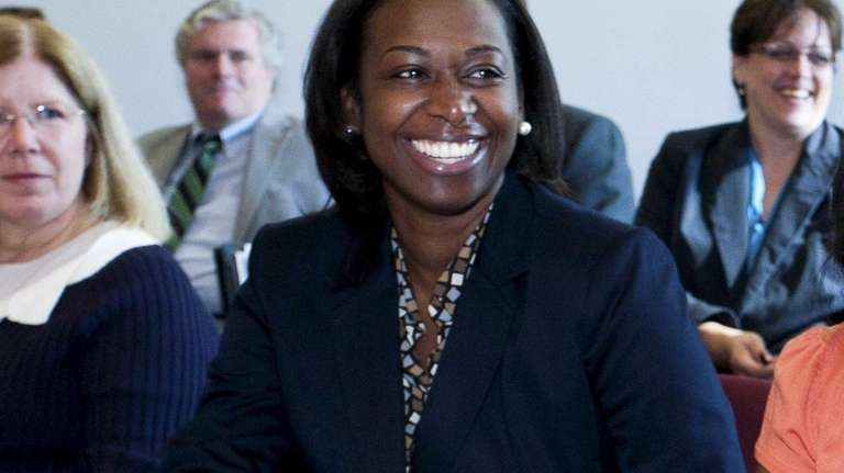 Nadia Davis, of Elmont, completed the Stony Brook