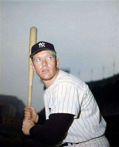 1956: MICKEY MANTLE   Yankees Stats: .353, 52