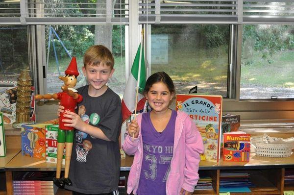 Walt Whitman Elementary School second-graders learn Italian phrases,