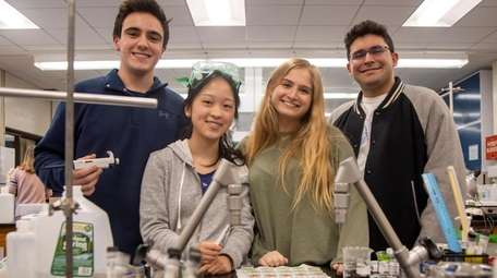 Manhasset High School's Regeneron scholars — Kevin Carratu,
