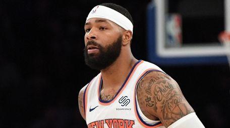 Knicks forward Marcus Morris plays against the Nets