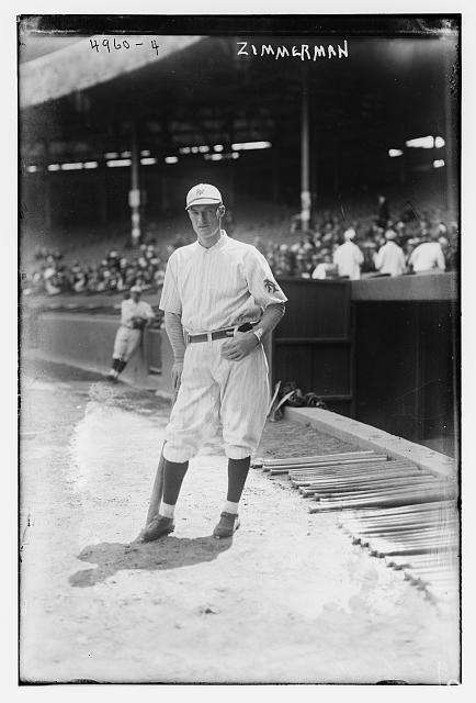 1912: HEINIE ZIMMERMAN | Chicago Stats: .372 average,