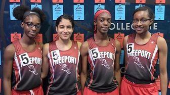 Freeport won the Long Island girls 4x400m relay