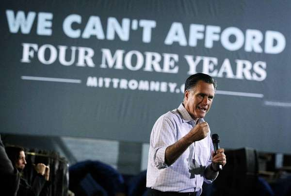 Republican U.S. presidential candidate Mitt Romney on the