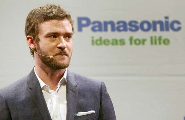 Singer/actor Justin Timberlake, above at an electronics show