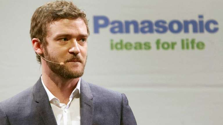Singer/actor Justin Timberlake, above at an electronics show