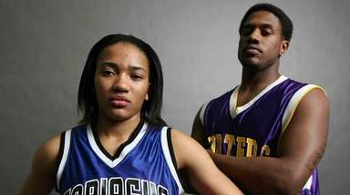 Ieasia Walker of Copiague, left, and Ryan Creighton