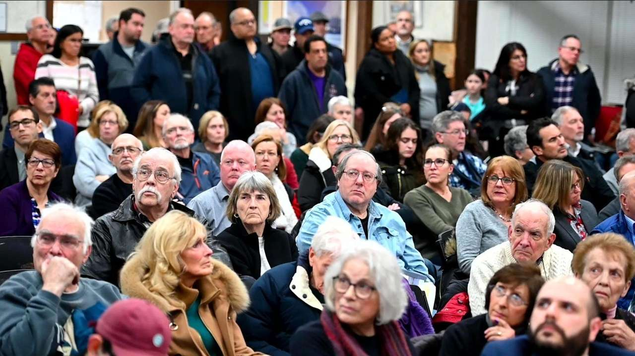 Dozens attended a Smithtown Planning Board hearing Wednesday