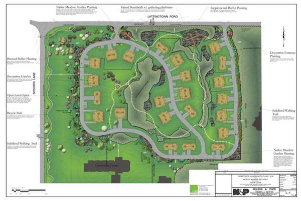 Site plan for Glen Cove Mansion, which is