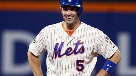 David Wright of the New York Mets smiles